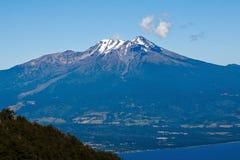calbuco智利火山 免版税库存图片