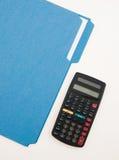Calc和文件夹 免版税库存照片