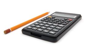 Calc und pencil2 Stockbild