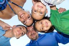 Calca felice della famiglia Immagine Stock Libera da Diritti