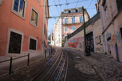 Calcada da Gloria Street in Lisbon Stock Photography