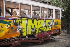 Calcada da Gloria Tram Stock Photo