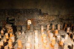 Calcadarium Roman Baths en el baño, Somerset, Inglaterra Fotos de archivo