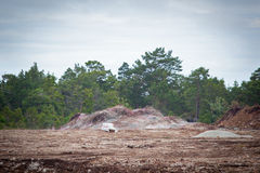 Calcare di brillamento in un quarry.GN Fotografia Stock