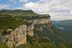 Calcareous cliffs in Tavertet, Catalonia Royalty Free Stock Photos