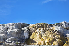 Calcareous formations travertine Stock Photos