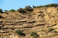 Calcareous sedimentary rock, sicily Royalty Free Stock Image