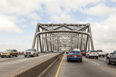 Calcasieu-Fluss-Brücke in Westlake, USA Lizenzfreies Stockbild