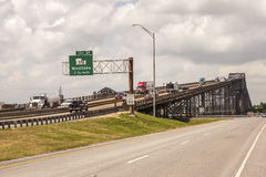 The Calcasieu River Bridge in Westlake, USA Royalty Free Stock Photography