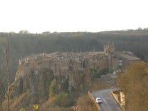 Calcata, één van de mooiste oude stad van lazio, Italië Royalty-vrije Stock Afbeelding
