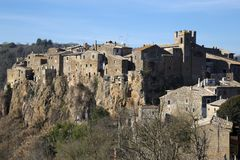 Calcata, Βιτέρμπο, Λάτσιο, Ιταλία, Ευρώπη Στοκ Φωτογραφίες