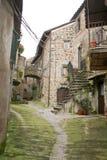Calcata Alleway Immagini Stock