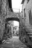 Calcata Alleway Fotografia Stock