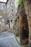 Calcata, alley. royalty free stock photography
