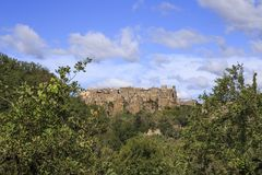 Calcata, a famous hamlet in the province of Viterbo in Italy royalty free stock photos