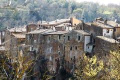 Calcata, un pueblo viejo en Italia Fotos de archivo libres de regalías