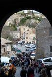 Calcata, un pueblo viejo en Italia Imágenes de archivo libres de regalías