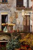 Calcata, un pueblo viejo en Italia Foto de archivo