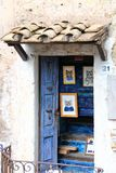 Calcata, un pueblo viejo en Italia Imagenes de archivo