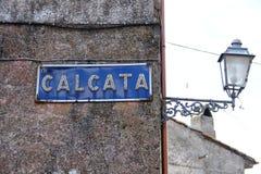 Calcata, un vieux village en Italie Image libre de droits