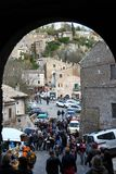 Calcata, un vieux village en Italie Images libres de droits