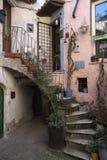 Calcata, Viterbe, Latium, Italie, l'Europe Image libre de droits