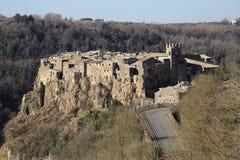 Calcata, Viterbo, lazio, Italië, Europa Royalty-vrije Stock Foto's