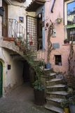 Calcata viterbo, lazio, Italien, Europa royaltyfri bild