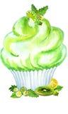 Calce A del muffin dell'acquerello Immagine Stock