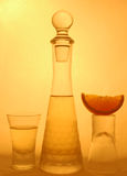 Calce e liquore Fotografia Stock