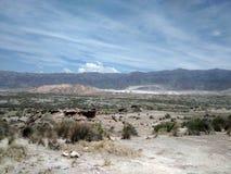 Calce minerale, Villicun in San Juan Argentina Immagine Stock