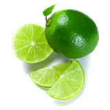 Calce verdi affettate Fotografia Stock