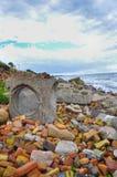 Calcestruzzo dal oceean Fotografia Stock Libera da Diritti
