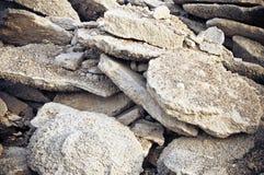 Calcestruzzo di demolizione Fotografie Stock