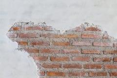 Calcestruzzo e muro di mattoni distrutti Immagine Stock Libera da Diritti