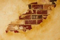 Calcestruzzo e muro di mattoni distrutti Immagine Stock