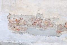 Calcestruzzo e muro di mattoni distrutti Fotografie Stock