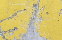 Calcestruzzo giallo con superficie nociva graffiata Fotografia Stock Libera da Diritti