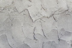 Calcestruzzo grigio fresco sul cantiere Fotografie Stock