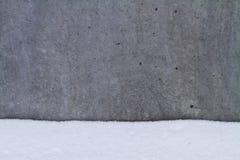 Calcestruzzo in neve Fotografia Stock