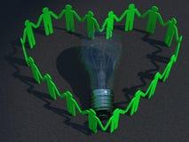 Calcestruzzo rosso del cuore dell'uomo d'affari Immagini Stock Libere da Diritti