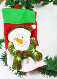 Calcetín de la Navidad Imagenes de archivo