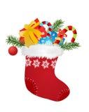Calcetín de la Navidad ilustración del vector