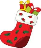 Calcetín de la Navidad stock de ilustración
