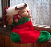 Calcetín de la Navidad Foto de archivo libre de regalías