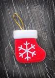 Calcetín de la Navidad Imagen de archivo