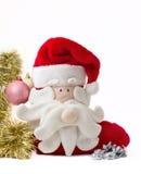 Calcetín de la Navidad con las decoraciones Imagen de archivo