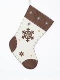 Calcetín de la Navidad de Brown Imágenes de archivo libres de regalías