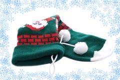 Calcetín de la Navidad en marco Fotografía de archivo libre de regalías