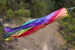 Calcetín de viento del arco iris Foto de archivo libre de regalías